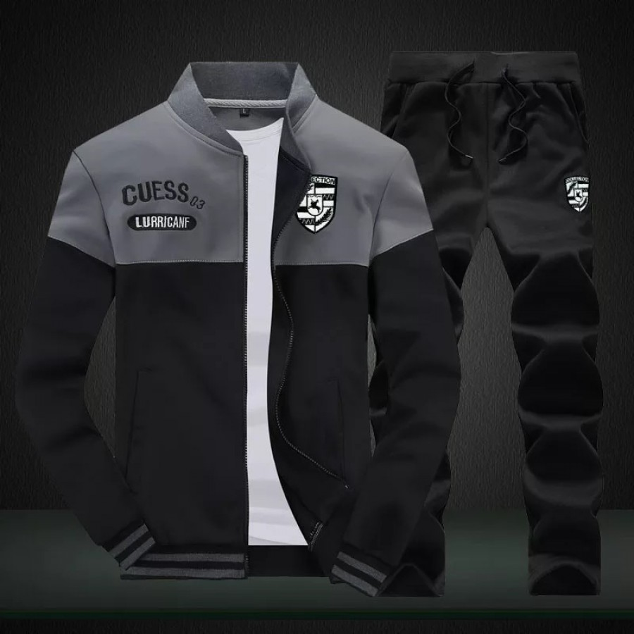 Contrast Panel Track Suit For Men
