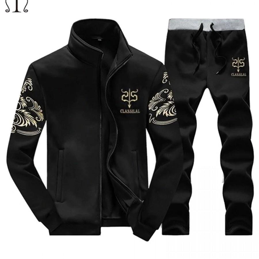 Black Stylish Men Track Suit - Design 19