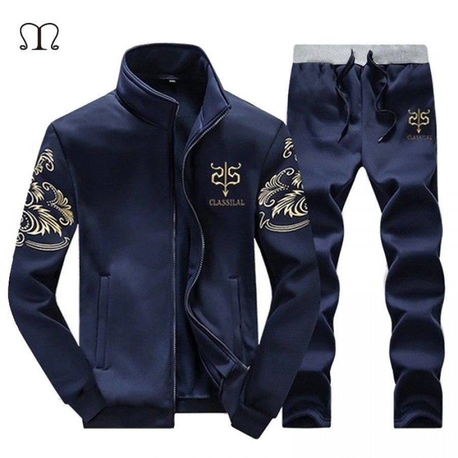 Blue Stylish Men Track Suit - Design 19