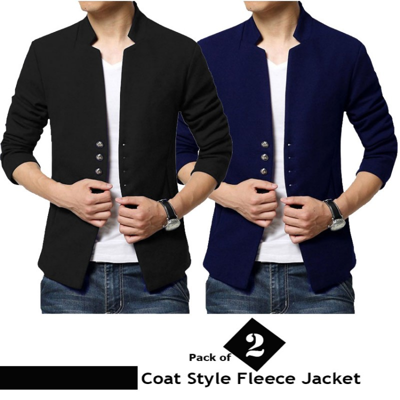Pack of 2 Coat Style Fleece Jacket