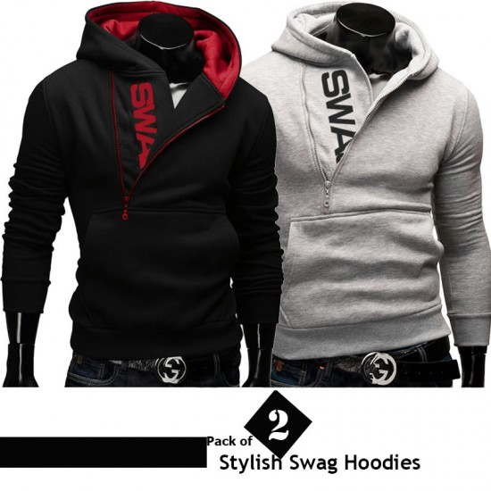 Pack of 2 Stylish Swag Hoodies
