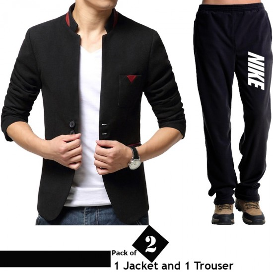 Pack of 2 Combo (1 D-2 Jacket and 1 Trouser)