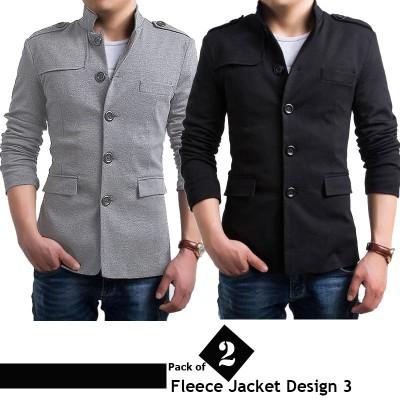 Pack of 2 Stylish Fleece Jackets (Design 3)