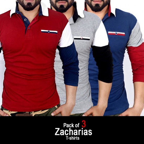 Pack of 3 Zacharias T-shirts