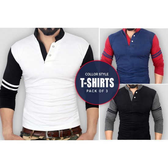 Pack of 3 Collar Style T Shirts