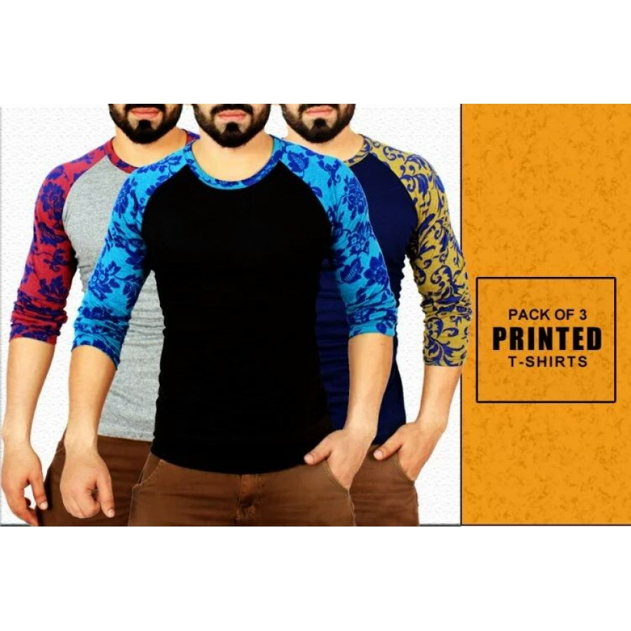Pack of 3 Printed T-SHIRTS
