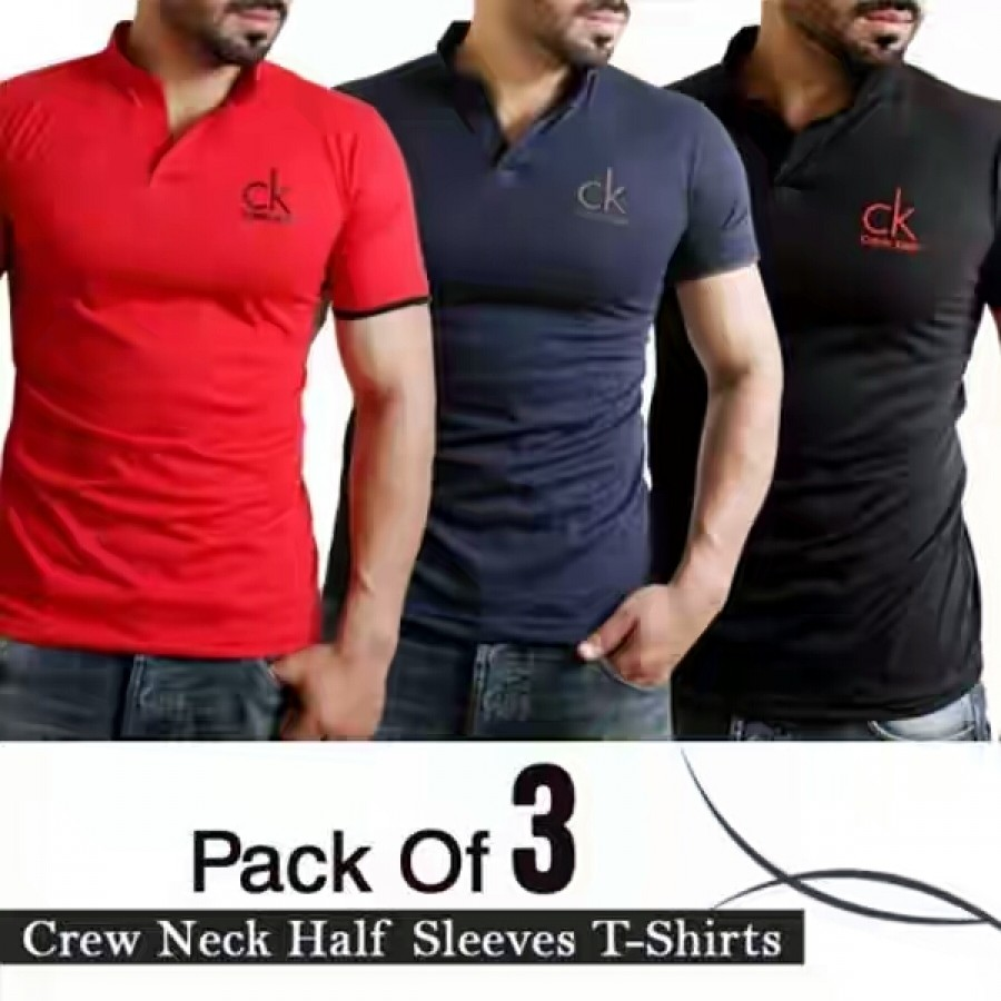 Pack of 3 Crew Neck half Sleeves T-Shirts