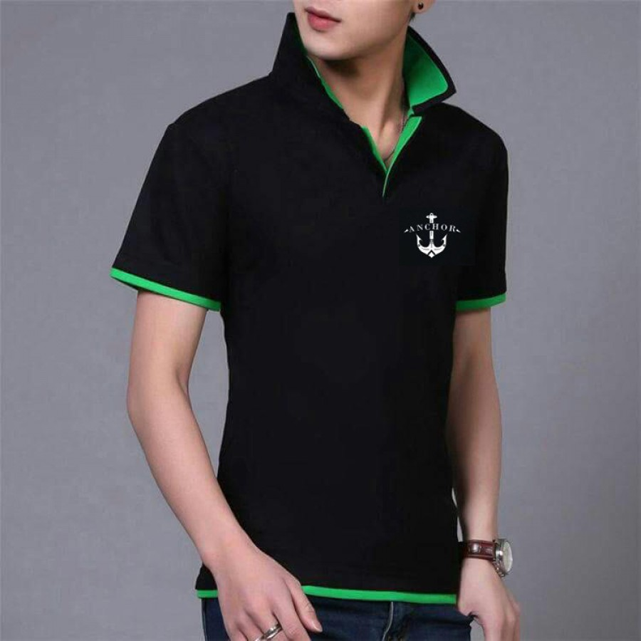 Pack of 3 Achor Double Collar Tshirt - Azaadi Offer