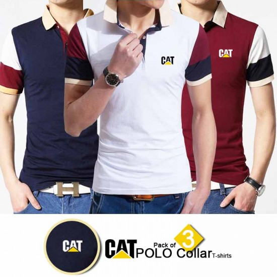 Pack of 3 Branded POLO Collar T-shirts