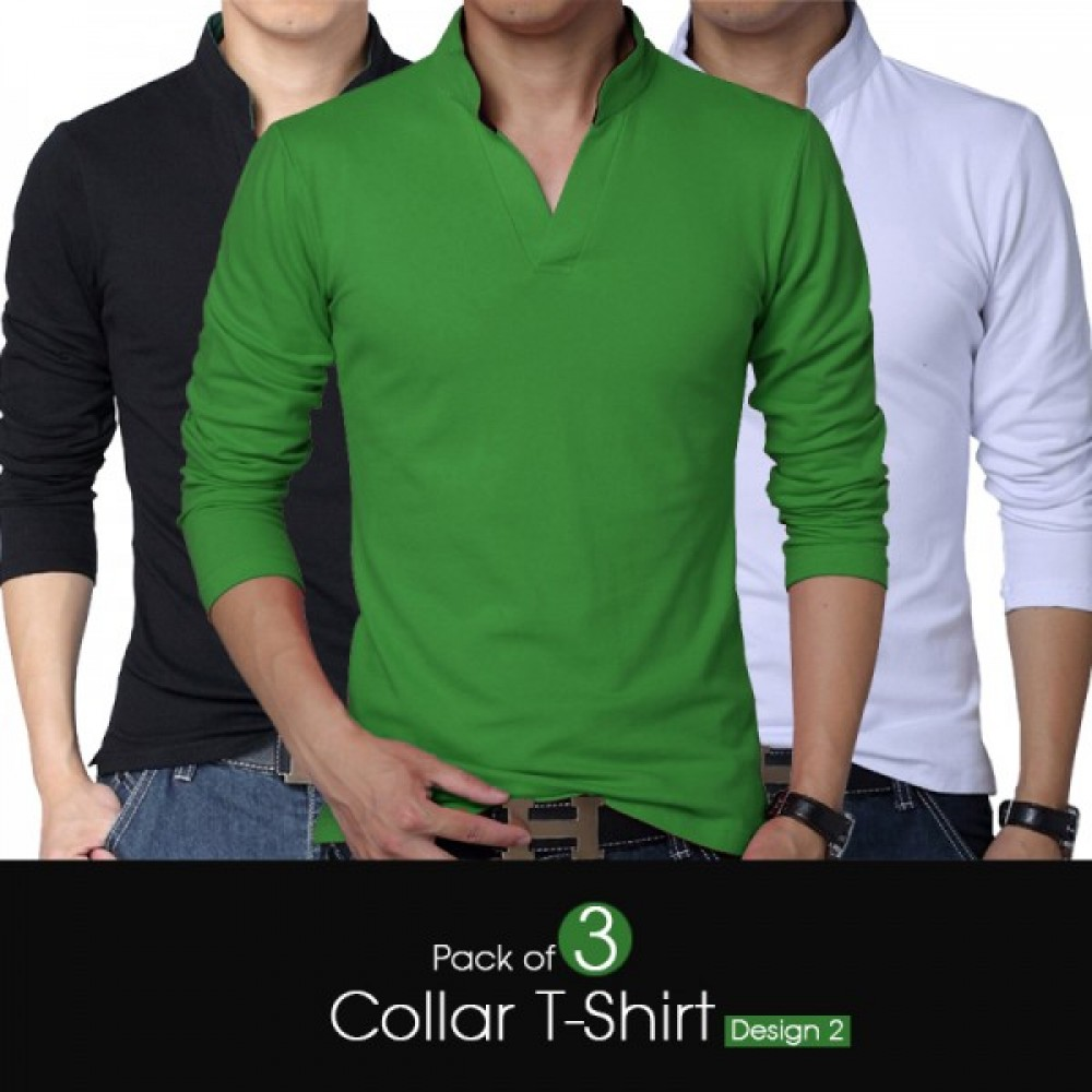 Pack Of 3 Collar T Shirt Design 2
