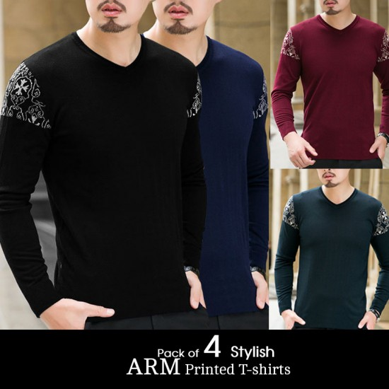Pack of 4 Stylish ARM Printed T-shirts