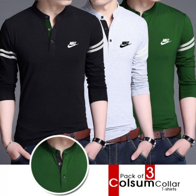 Pack of 3 Colsum Collar T-shirts