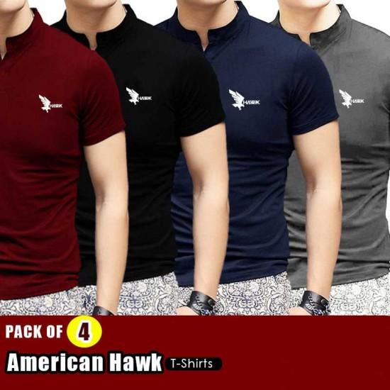PACK OF 4 AMERICAN HAWK T SHIRTS