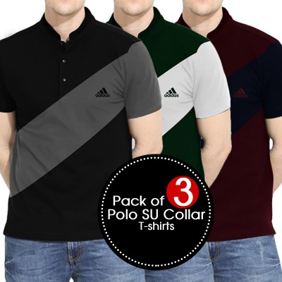 Pack of 3 Polo SU Collar T-shirts