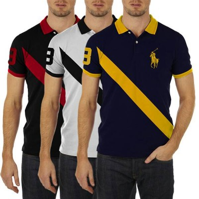 Pack of 3 Panel RL Polo T-Shirts
