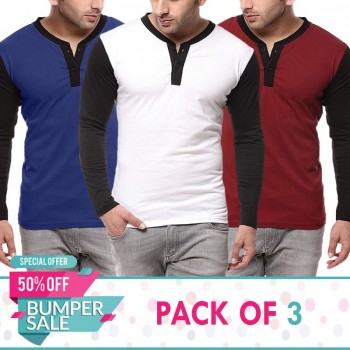 Pack of 3 BWR Raglan Tshirts