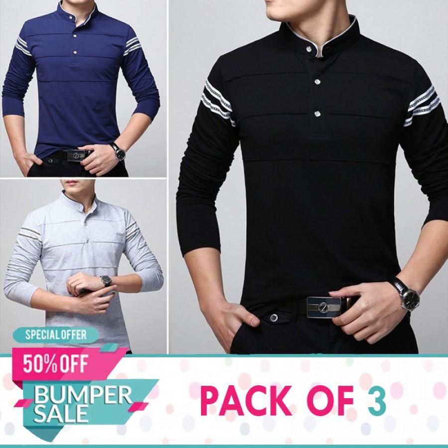 Pack of 3 Triple Stripe Shirts