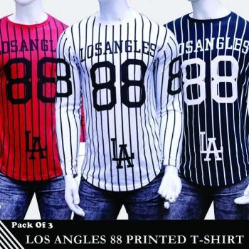Pack of 3 Los Angles 88 Printed T-Shirt