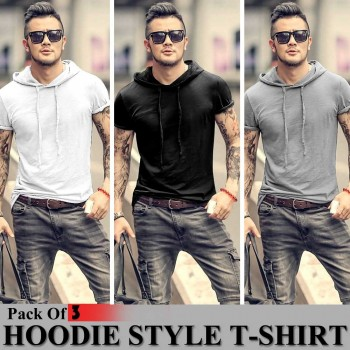Pack of 3 Hoodie Style T-Shirt