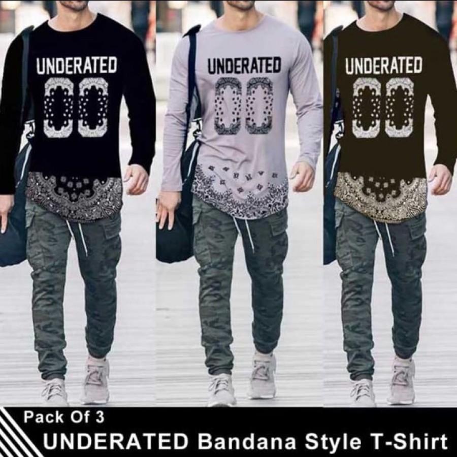 Pack of 3 Underrated Bandana Style T-Shirt