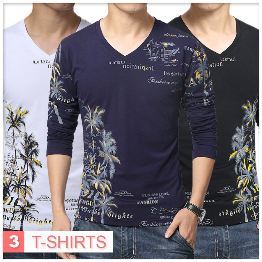 Pack of 3 Beach Style T-Shirts