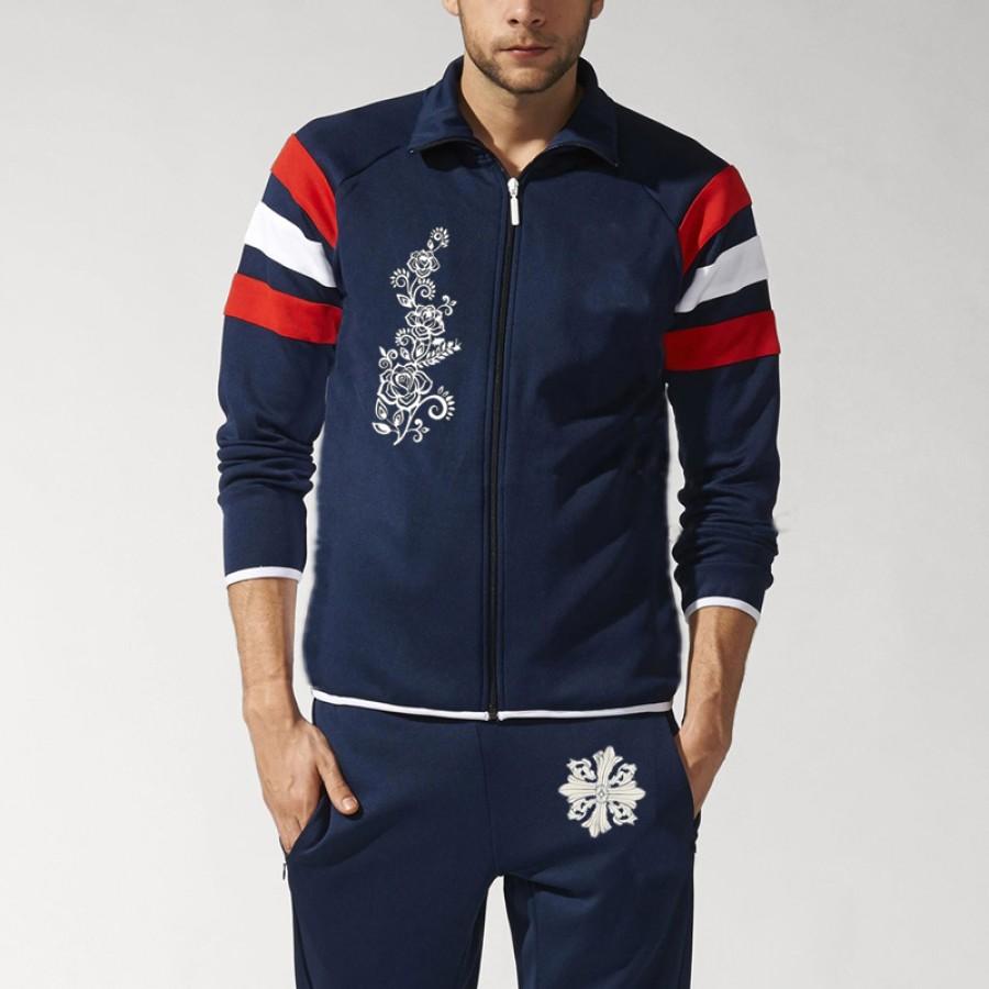 Chest Flower Blue Stylish Men Track Suit Design 13