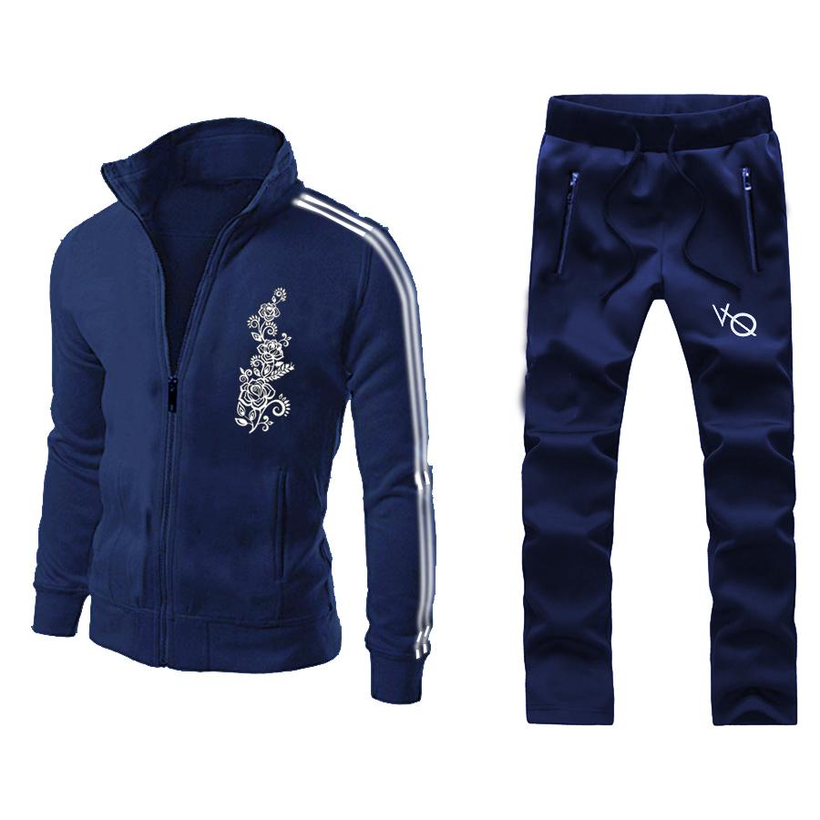 Chest Flower Blue Stylish Men Track Suit Design 14