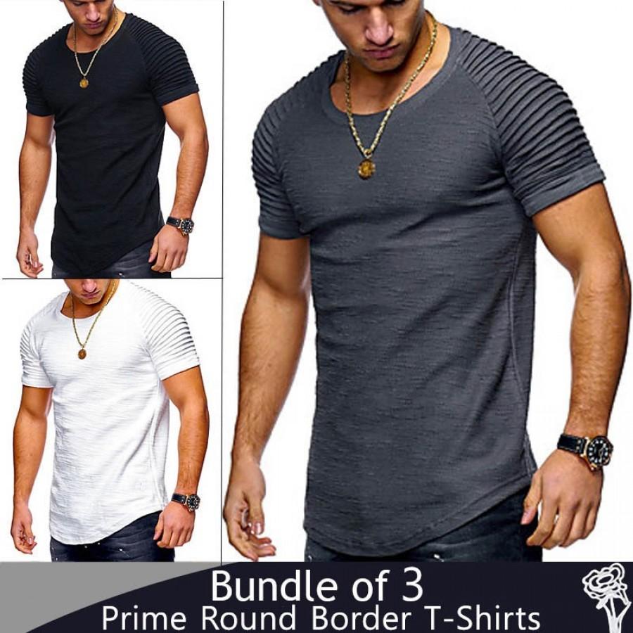 Bundle of 3 Prime Round Border T-Shirts