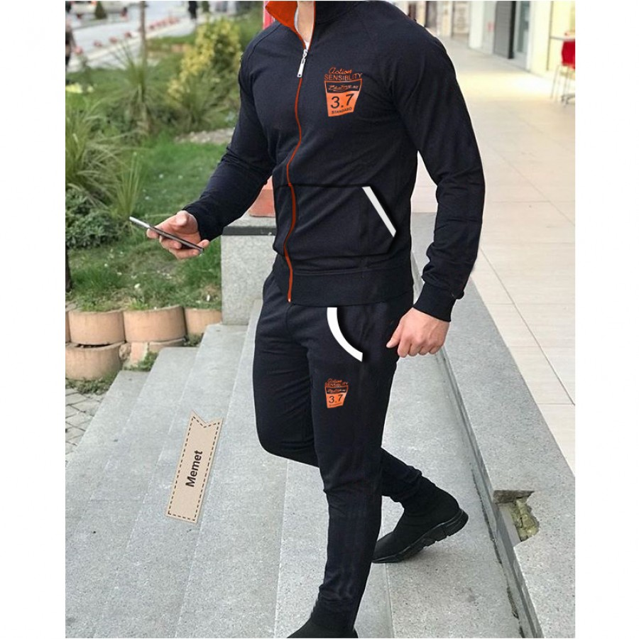 Black Stylish Men Track Suit Design 15