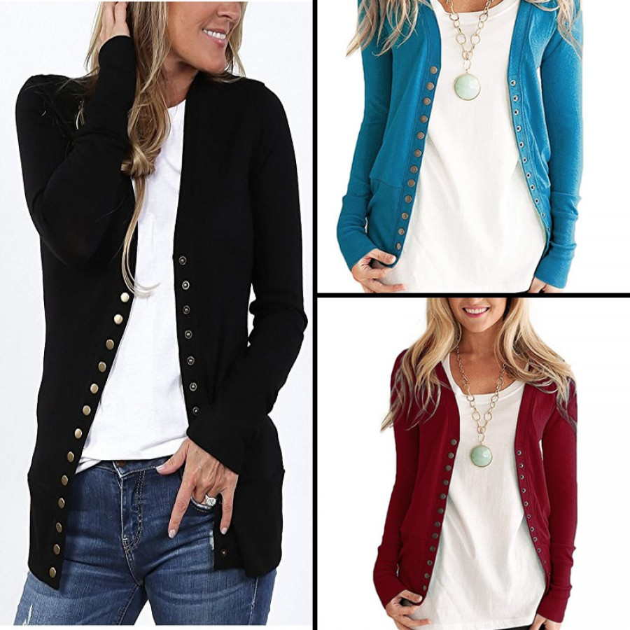 Bundle of 3 Open Button Full Sleeves Cardigans
