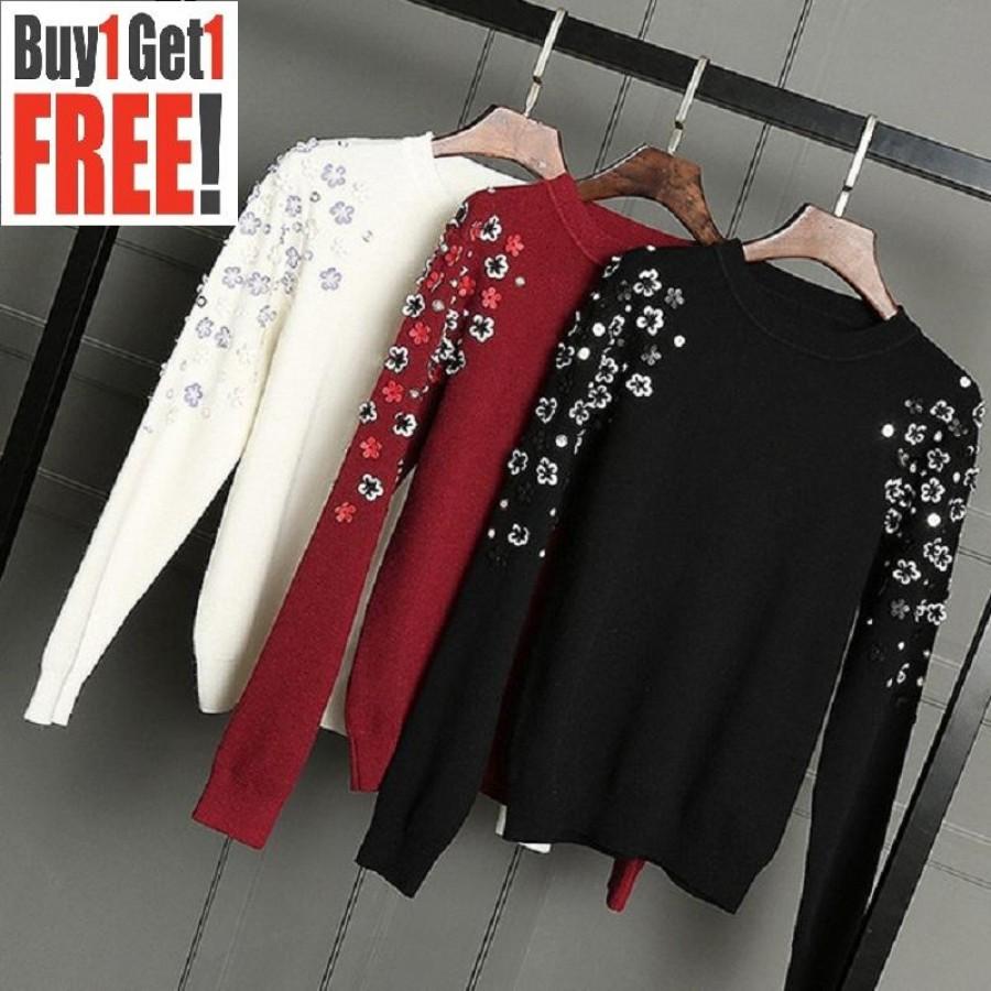 Buy 1 Get 1 Free Flower Printed Sweat Shirts