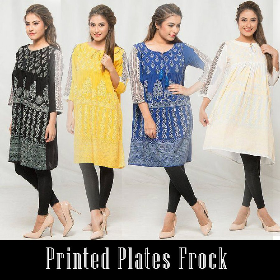 Printed plates frock