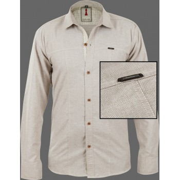Tan Chambray Smart Casual Shirt Design 1