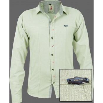 Moss Chambray Smart Casual Shirt Design 1