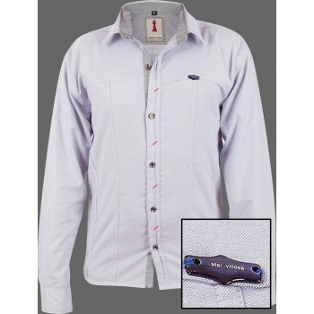Pearl Chambray Smart Casual Shirt Design 1