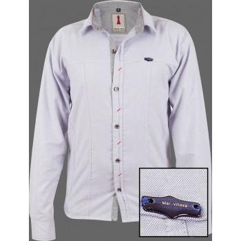 Pearl Chambray Smart Casual Shirt Design 1