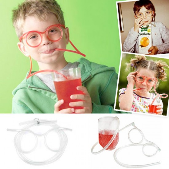 Funny Soft Glasses Straw