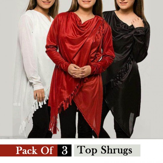 Pack Of 3 Top Shrugs
