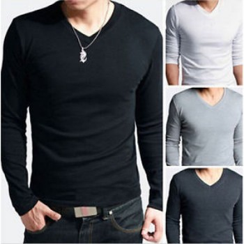 Men's Pack Of Three V-Neck Long Sleeves T-shirt
