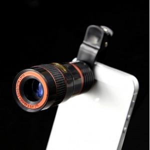 Universal 8X Mobile Phone Clip Lens