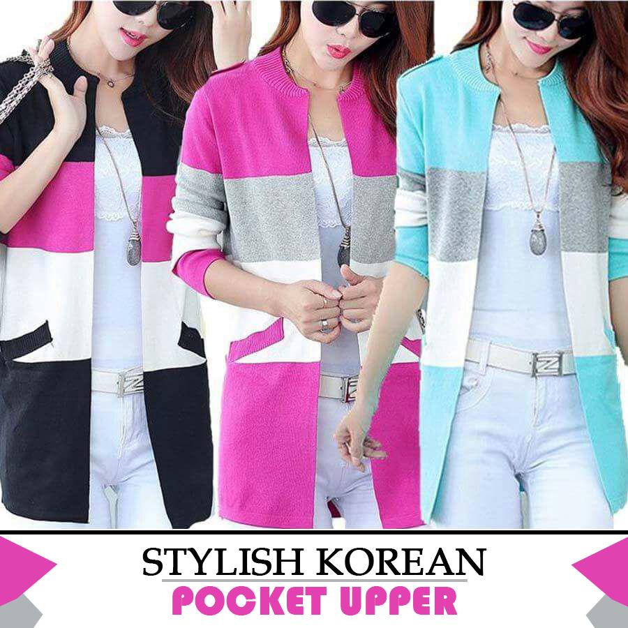 Stylish Korean Pocket Upper