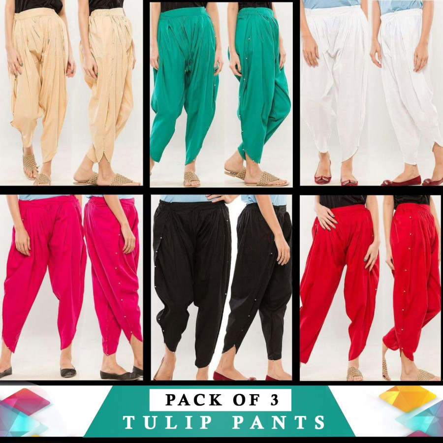 Pack Of 3 Tulips Pants