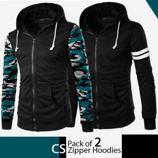 Pack Of 2 CS Zipper Hoodies