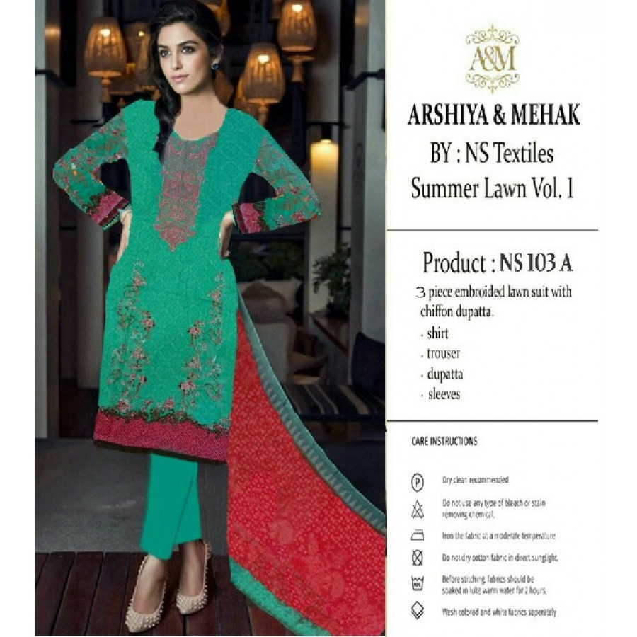 Arshiya And Mehak Summer lawn Vol.1 2017 Design 103 A