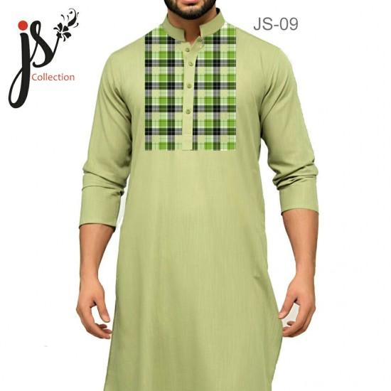 Un-stitched Kurta Shalwar JS Style D-09