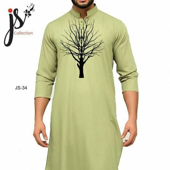 Un-stitched Kurta Shalwar JS Style D-34