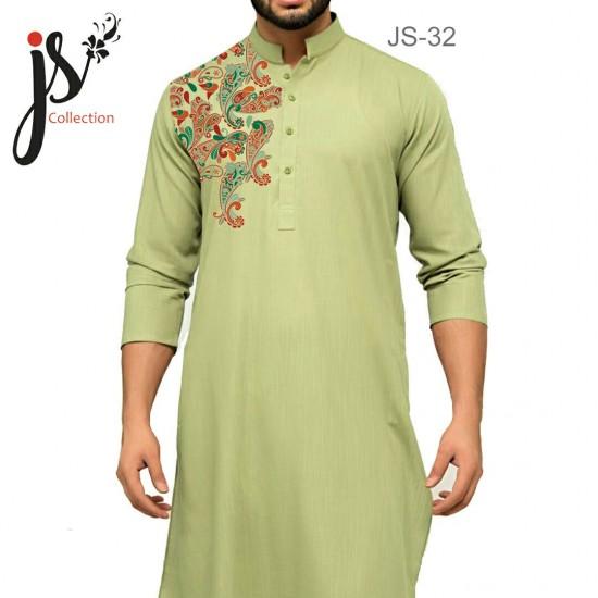 Un-stitched Kurta Shalwar JS Style D-32