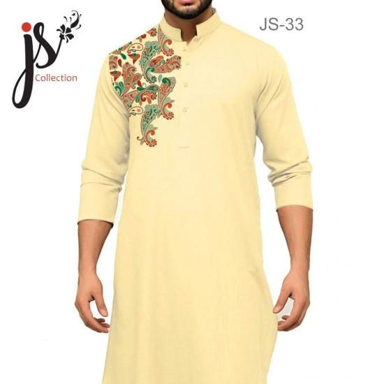 Un-stitched Kurta Shalwar JS Style D-33