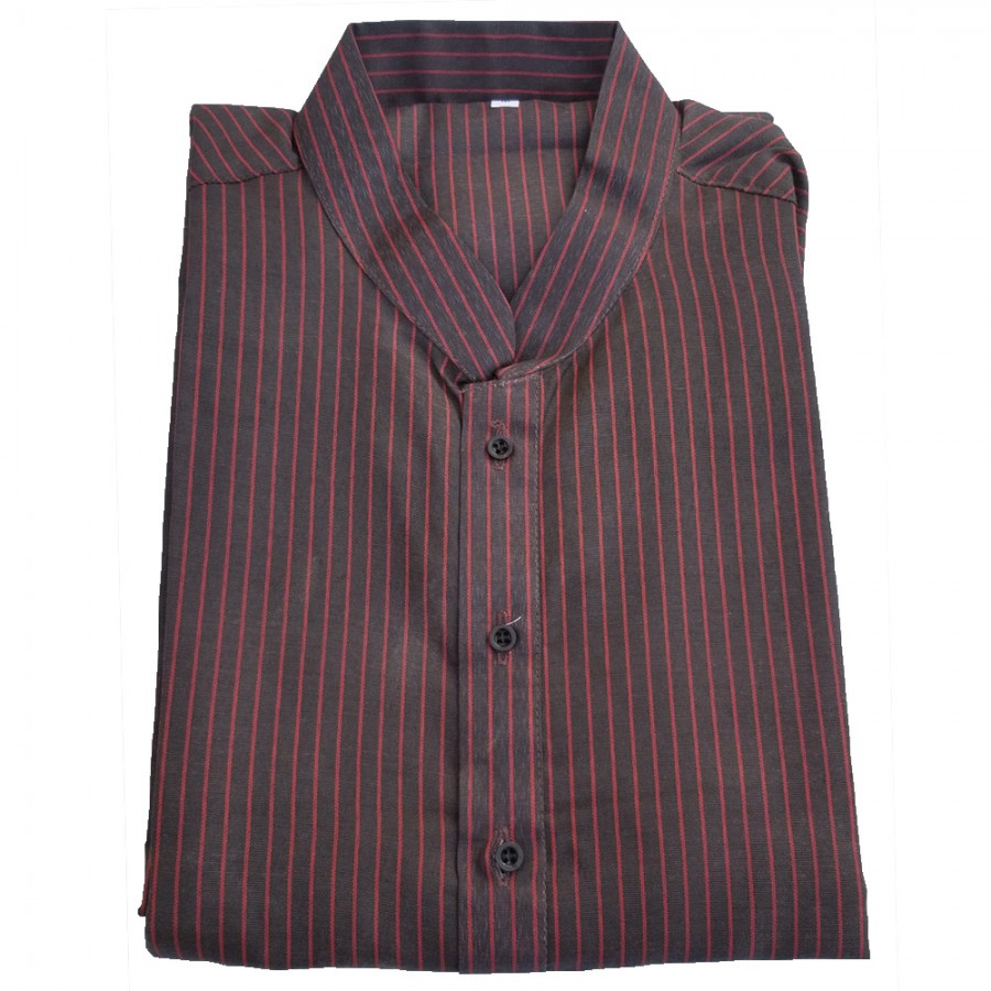 Brown Yarn Dyed Stripes Kurta for Men - Design 1