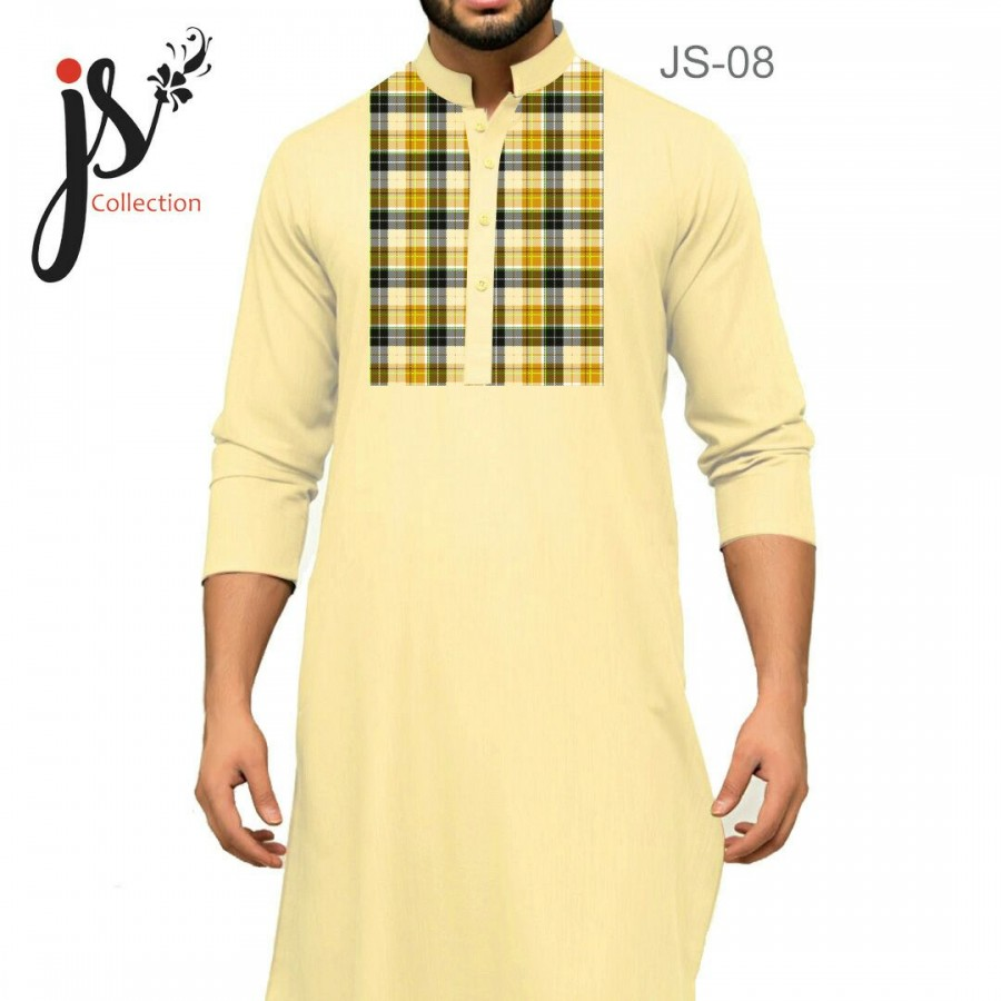Un-stitched Kurta Shalwar JS Style D-08